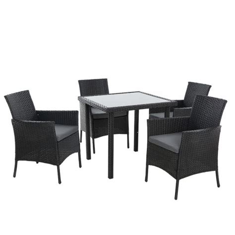 outdoor dining set patio furniture wicker chairs table
