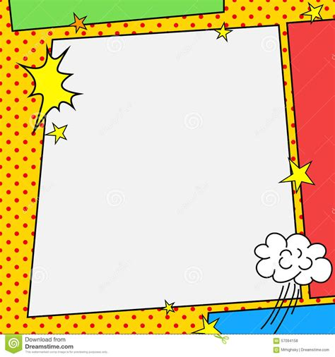 Comic Book Style Frame Stock Vector   Image: 57094158