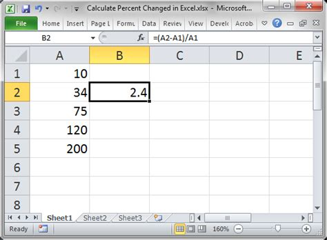 excel tutorial how to calculate percentages calculate percent change in excel teachexcel com