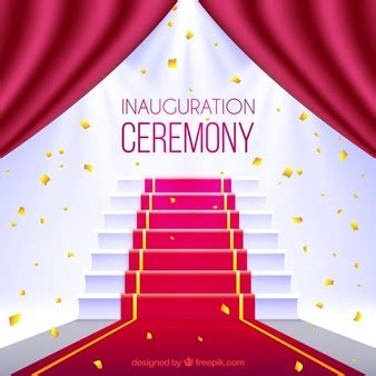 ppt templates for inauguration simple black curtain vector free download