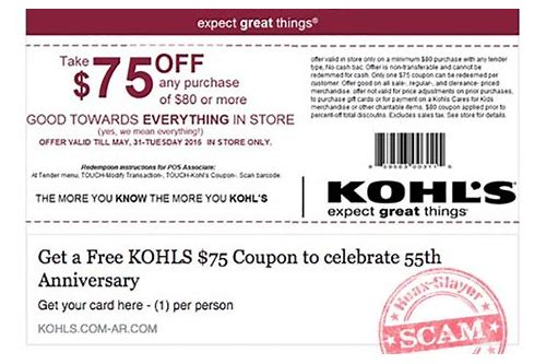 online coupon scams