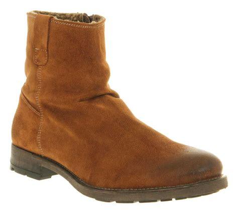 mens suede zip boots mens ask the missus zip boot rust suede boots ebay