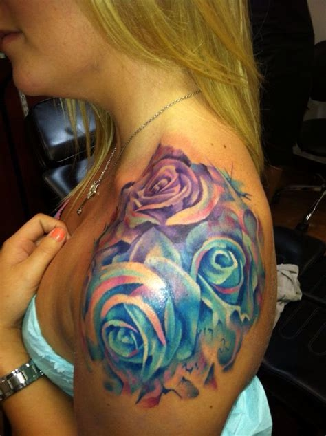 gorgeous rose tattoos gorgeous painted roses in tone colors