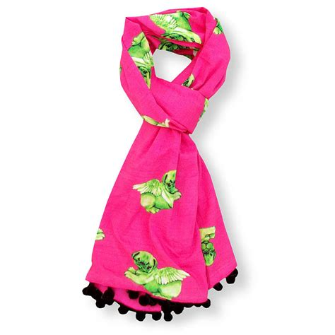 pug scarf biddy pug scarf by pugs might fly notonthehighstreet