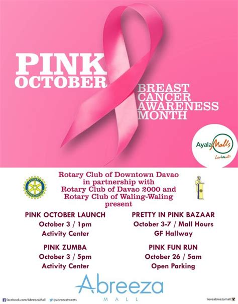 October Is Breast Cancer Awareness Month 3 by Exciting Events In Davao This October 2014 Davaobase