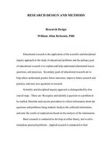Research Paper Design Section by Research Design Paperinstructions