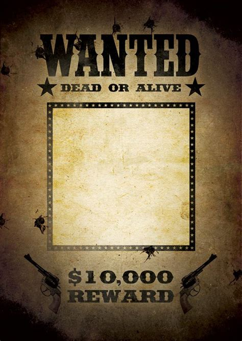 Most Wanted Poster Template most wanted poster template wanted poster template