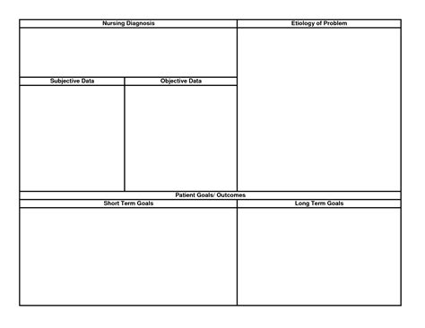 nursing plan template 15 best images of printable nursing worksheets printable