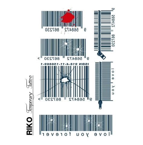 barcode tattoo transfer 16 best images about bar code tattoos on pinterest