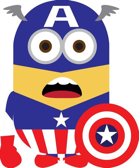 Despicable Me Captain America C0189 Iphone 7 minion capitan america ata capitan america