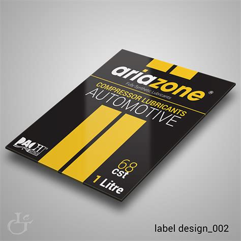 Label Design Behance | ariazone label design on behance