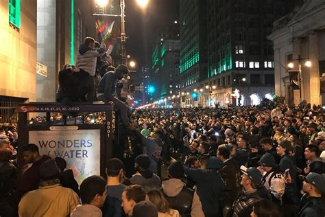 watch eagles fans take to philly s streets to celebrate