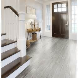 Style selections eldon white wood look porcelain tile common 6 in x