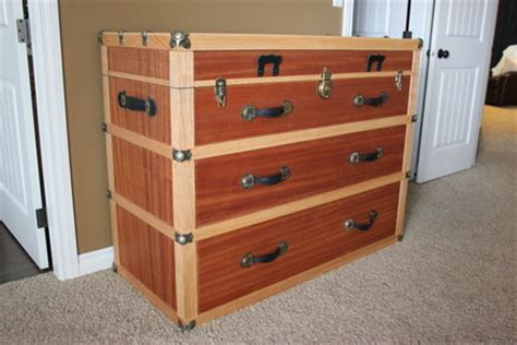 steamer trunk dresser plans steamer trunk dresser nightstand by vandy