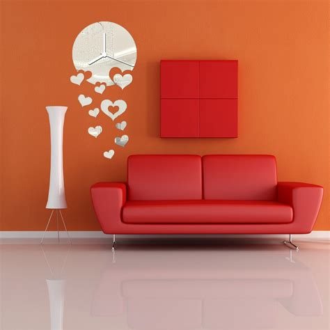 diy wall art 16 innovative wall decorations modern diy frameless acrylic mirror wall clocks sticker