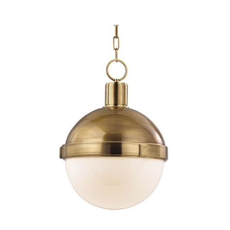 Hudson Valley Pendant Lights Mid Century Modern Pendant Light Brass Lambert By Hudson Valley Lighting 615 Agb Destination