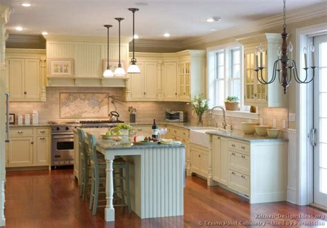 Antique Off White Kitchen Cabinets of kitchens traditional off white antique kitchens kitchen 74