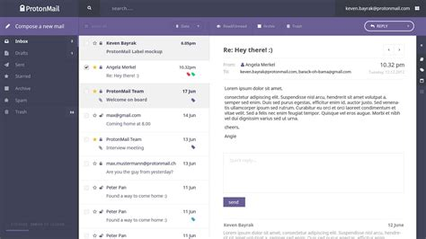 email inbox layout inbox design poll protonmail blog