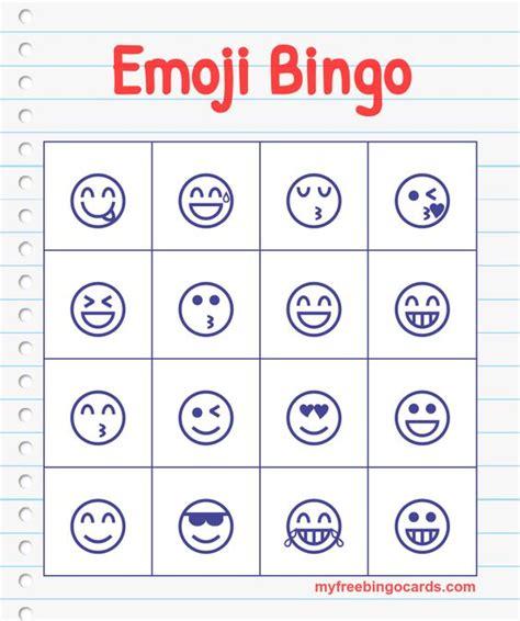 printable emoji games free printable bingo cards bingo free printable bingo