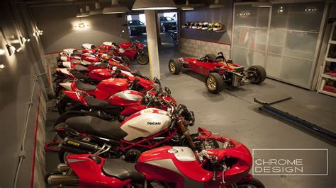Motorcycle Garage by Motorcycle Garage Ducatti Chrome Design