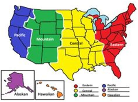 map of the united states divided by time zones this printable map of the united states is divided into