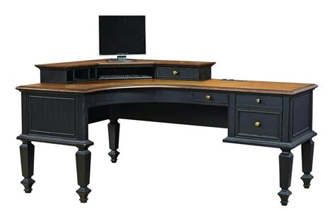 Corner Office Desk Wood Curved Corner Office Desk Design Orchidlagoon
