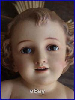 baby jesus  glass eye nativity christmas figurine