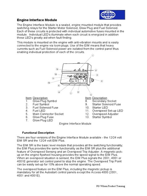 fg wilson engine interface module wiring diagram fg wilson