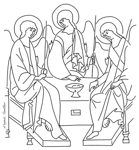 free coloring pages of the trinity