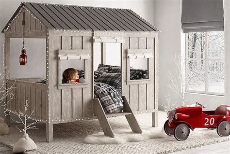 fun bed  shape  mini cabin   kids cabin bed