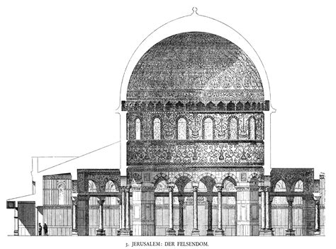 dome section file dehio 10 dome of the rock section jpg wikimedia commons