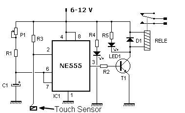 sensor por toque esquemas eletronica pt