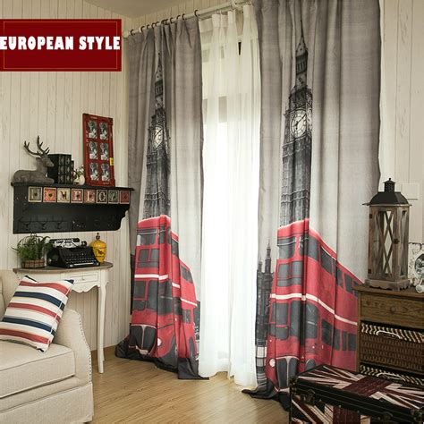 blackout curtains london 130 x 260 cm window curtains for living room luxurious 3d