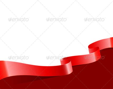 background vector merah ribbon background by sonneon graphicriver