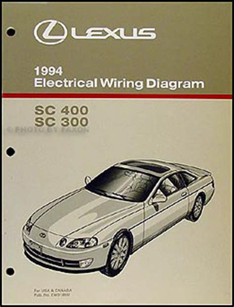 auto manual repair 1994 lexus es parking system 1994 lexus sc 300 and sc 400 wiring diagram manual original