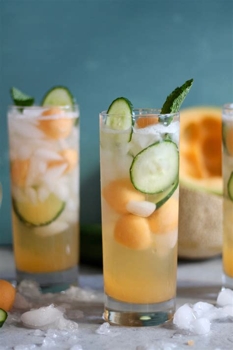 Bathtub Gin Cocktail Recipe by Cucumber Melon Gin Spritzers Spices In Dna