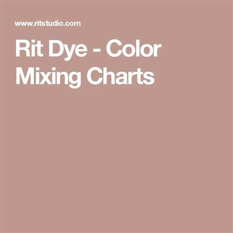 rit dye color mixing chart the 25 best rit dye colors chart ideas on rit