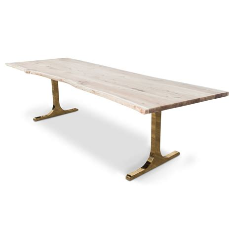 Bleached Dining Table Eco Solid Bleached Walnut Slab Dining Table Modshop