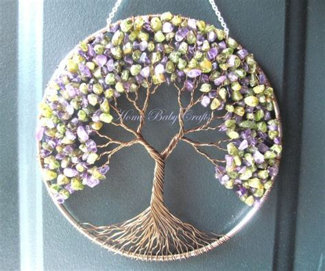 wire tree wall hanging home decor peridot lilac tree wire tree of life wall hanging sun