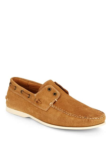 loafers clay varvatos clipper perforated suede loafers in