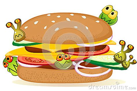 germs on food clipart