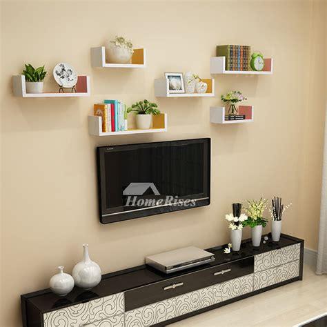 wall bookshelves for room wall book shelves wooden living room modern design rectangular