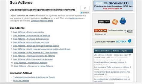 adsense español gu 237 a adsense en espa 241 ol para aprender a monetizar tu blog