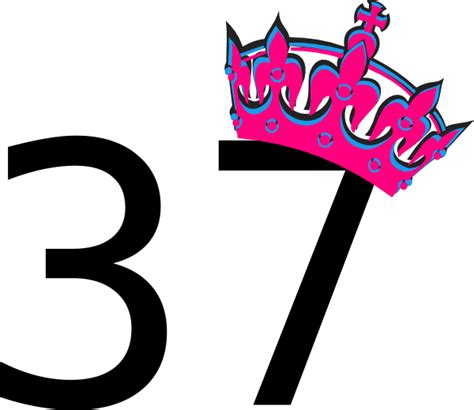 Paint For Office by Pink Tilted Tiara And Number 37 Clip Art At Clker Com