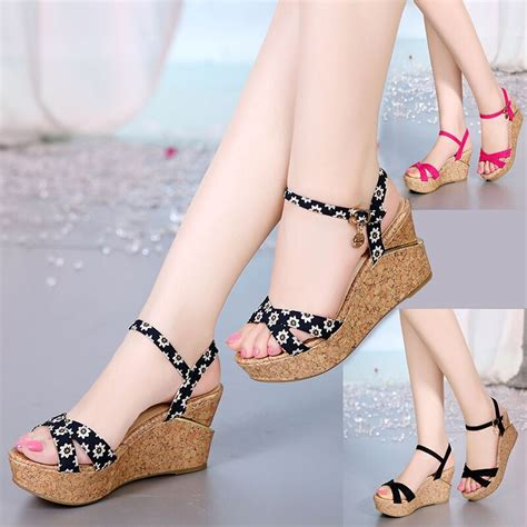 New Arrivals Cynthia Wedges new arrival 2015 high heeled sandals wedges platform flat open toe s student shoes