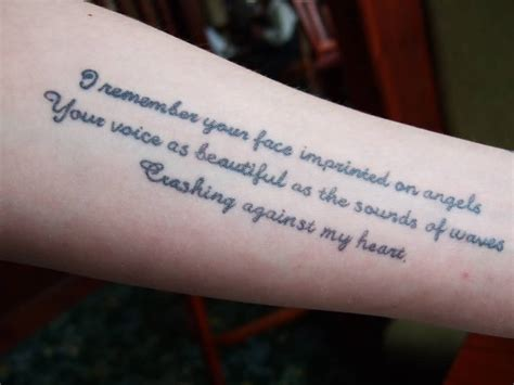 poetry tattoos 40 poem tattoos ideas