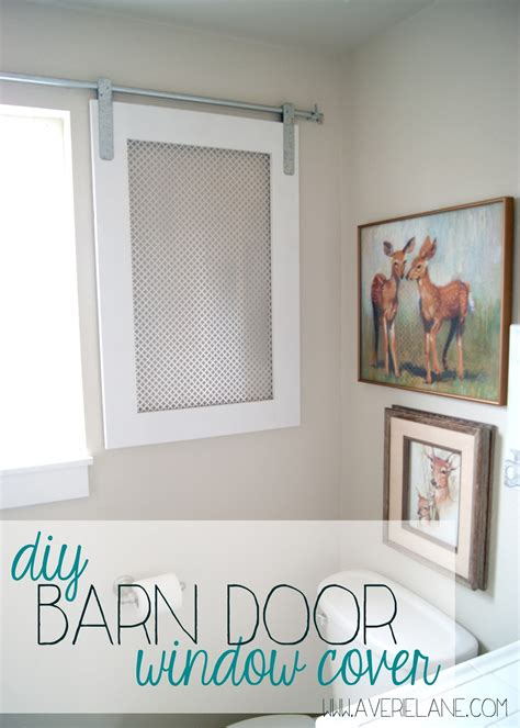 how to cover a bathroom window project kid s bathroom diy barn door window cover for the bathroom averie lane
