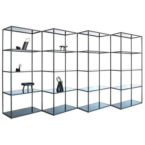 Zig Zag Room Divider Modern Minimal Black Zigzag Four Section Bookcase And Room Divider For Sale At 1stdibs