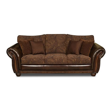 Brown Leather Sofa Sleeper Simmons Upholstery 8104 Pk Sf Brown Leather Zepher Sleeper Sofa Sears Outlet