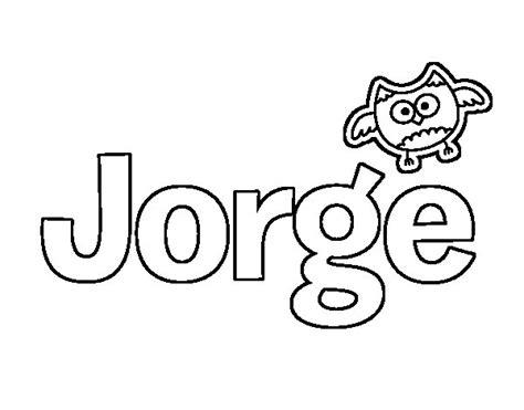 imagenes de halloween con nombre de jorge dibujo de jorge para colorear dibujos net